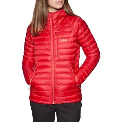 ラブ Rab レディース ダウン・中綿ジャケット アウター microlight alpine down jacket Ruby Crimson