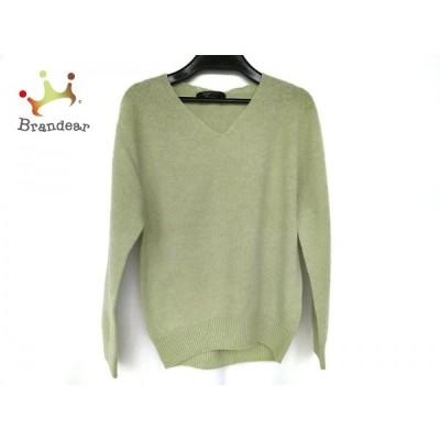 ジャスグリッティー JUSGLITTY 長袖セーター サイズ2 M レディース 新品同様 ライトグリーン   スペシャル特価 20200417
