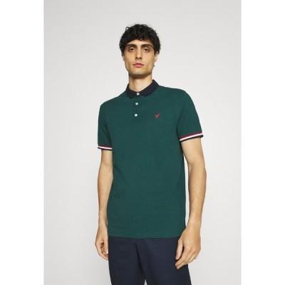 ピアワン ポロシャツ メンズ トップス Polo shirt - dark green