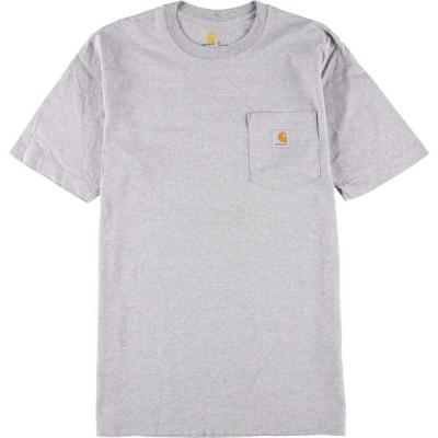 カーハート Carhartt ワンポイントロゴポケットTシャツ メンズS /eaa153025