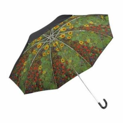ユーパワー 名画折りたたみ傘(晴雨兼用) クリムト「サンフラワー」 AU-02509 4996953069255