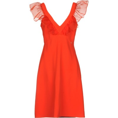 ELISABETTA FRANCHI ミニワンピース&ドレス オレンジ 44 66% レーヨン 32% アセテート 2% ポリウレタン ミニワンピー