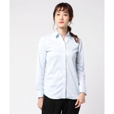 シャツ ブラウス 通年 I-SHIRT長袖 ブライトダイヤ柄 角度付きSKシャツ PWHI50