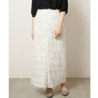 【ミューカ/MJUKA.】 フェザージャガードスリットスカート