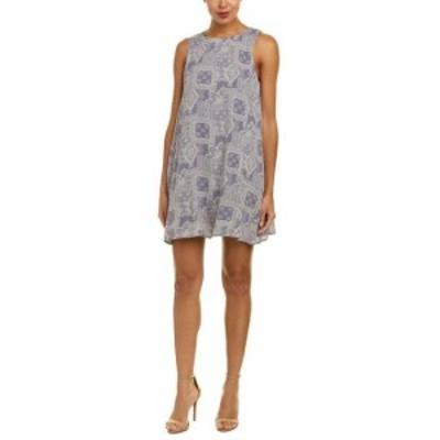 Sadie  ファッション ドレス Sadie & Sage Printed Shift Dress S Purple