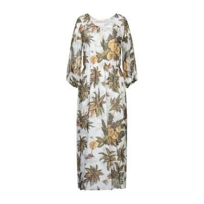 SHIRTAPORTER ロングワンピース&ドレス ホワイト 46 コットン 100% ロングワンピース&ドレス