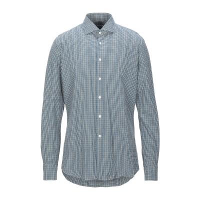 グランシャツ GLANSHIRT シャツ ブルー 38 コットン 100% シャツ
