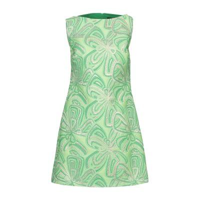 COMPAGNIA ITALIANA ミニワンピース&ドレス ライトグリーン 42 ポリエステル 90% / 金属 10% ミニワンピース&ドレス