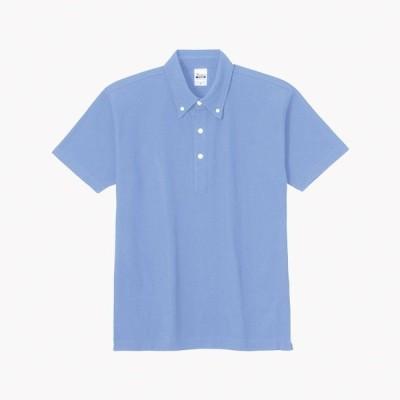 トムス チームTシャツ ユニフォーム 00224-036-SS-SBN 5.3オンス スタンダードBDポロシャツ スカイブルー SS 00224-036-SS <2019AWCON>