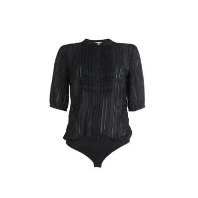 PATRIZIA PEPE 無地シャツ&ブラウス  レディースファッション  トップス  シャツ、ブラウス  長袖 ブラック