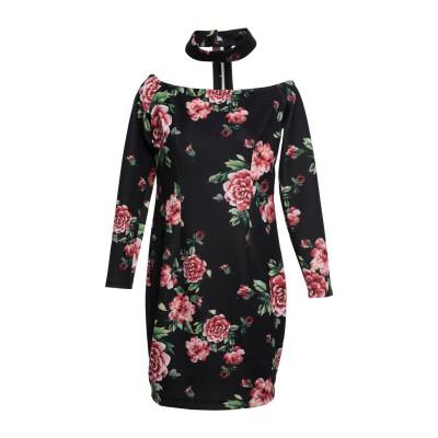 ゲス GUESS ミニワンピース&ドレス ブラック L ポリエステル 93% / ポリウレタン 7% ミニワンピース&ドレス
