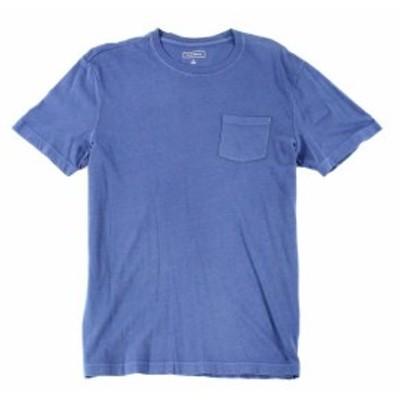 Calvin Klein カルバンクライン ファッション トップス Calvin Klein NEW Blue Mens Small S Basic Tee Pocket Crewneck T-Shirt