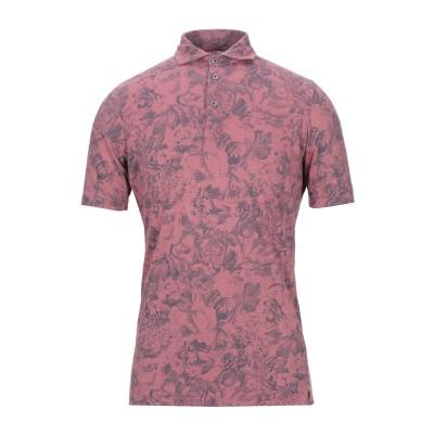 H953 ポロシャツ パステルピンク 48 リネン 100% ポロシャツ