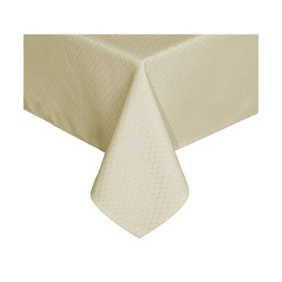 TEKTRUM 60 X 102インチ長方形エレガントなワッフル織りチェックジャカードテーブルクロステーブルカバー   防水/耐汚れ/ Spill P