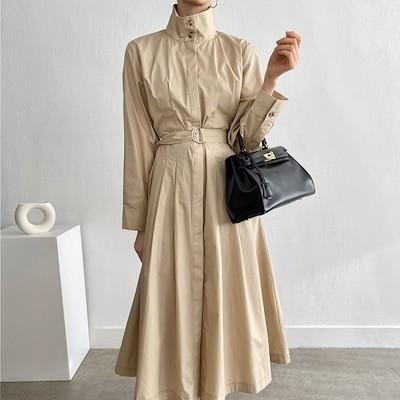 (1day2days)ミラノワンピース ロングワンピース トレンチ 日本 韓国ファッション 送料無料 人気新商品