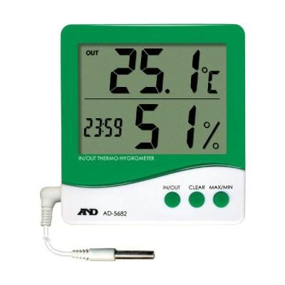 A&D 時計付き内外温度・湿度計 ( AD5682 )