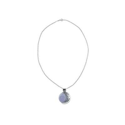 """NOVICA Jade .925 Sterling Silver Pendant Necklace, 18"""" 'Lilac Quetzal Eclip好評販売中"""