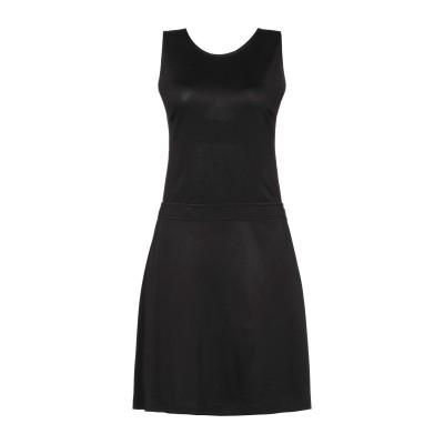ラブ モスキーノ LOVE MOSCHINO ミニワンピース&ドレス ブラック 40 レーヨン 64% / ナイロン 30% / ポリウレタン 6%