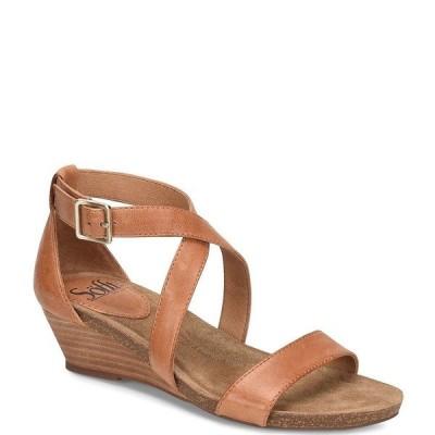 ソフト レディース サンダル シューズ Valeryn Banded Leather Wedge Sandals Luggage