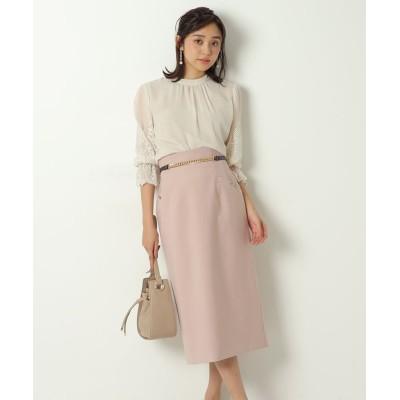 【ジャスグリッティー】 チェーンベルト付きタイトスカート レディース ピンク 0 JUSGLITTY
