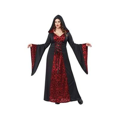 California Costumes Women's Gothic Robe Plus Costume, black/red, 2X Large[並行輸入品]