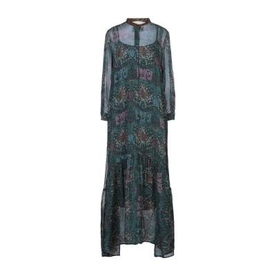 8PM ロングワンピース&ドレス ダークグリーン S レーヨン 100% ロングワンピース&ドレス