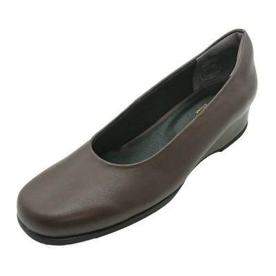 ハッシュパピー パンプス レディース L-6560 ダークブラウン 靴