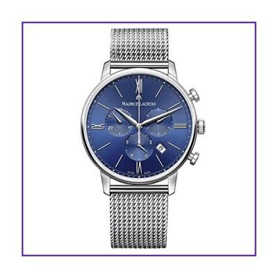 Maurice Lacroix Men's Eliros Swiss-Quartz Watch with Stainless-Steel Strap, Silver (Model: EL1098-SS002-410-2) 並行輸入品