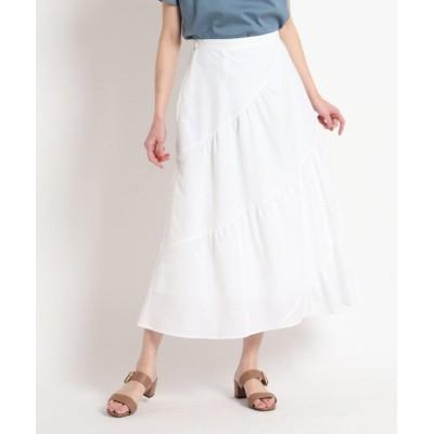 【スーナウーナ】 ロングティアードスカート レディース ホワイト 36(S) SunaUna