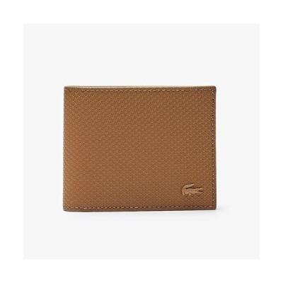 財布 CHANTACO 鹿の子地エンボスレザーふたつ折りカードウォレット