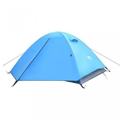テント Double double tent in the fieldaluminum pole tent campingstorm-proof tents-blue