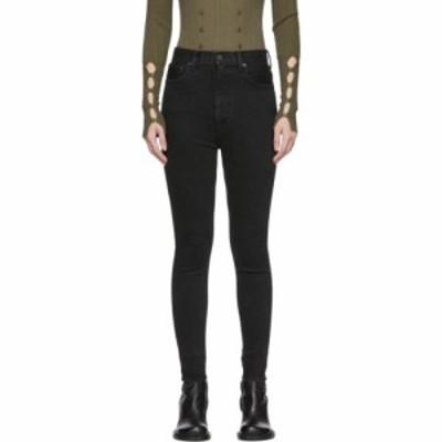 マウジー Moussy Vintage レディース ジーンズ・デニム ボトムス・パンツ black mv filer rebirth skinny jeans Black