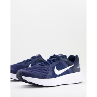 ナイキ Nike Running メンズ ランニング・ウォーキング シューズ・靴 Run Swift 2 trainers in navy and white ネイビー