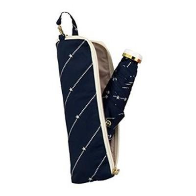 ワールドパーティー(wpc.) 雨傘 折りたたみ傘 ネイビー 50cm レディース ジッパーケースタイプ 星チェーン ミニ 275-117 nv