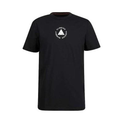 マムート メンズ Tシャツ トップス Mammut Men's Massone T-Shirt Black Print2