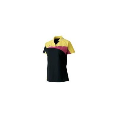ミズノ  ミズノ ドライサイエンス/ゲームシャツ(ラケットスポーツ/レディース) ブラック×ブレイジングイエロー(62ja721394)  スポーツ用品 取り寄せ