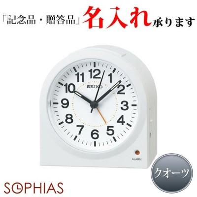 セイコークロック SEIKO クオーツ KR894W めざまし時計 スタンダード 白パール