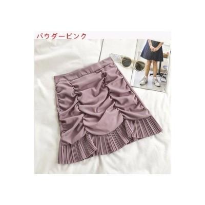 【送料無料】夏 韓国風 小 デザイン 感 フリル + プリーツ エッジ ハイウエスト | 346770_A62628-0867179