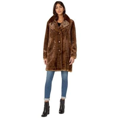 ケイト スペード Kate Spade New York レディース ジャケット アウター Single Breasted Faux Fur Jacket Mocha