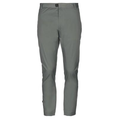 LOW BRAND パンツ ミリタリーグリーン 30 コットン 48% / ナイロン 46% / ポリウレタン 6% パンツ