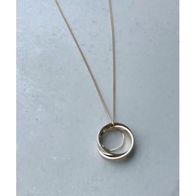 ネックレス ロングネックレスで縦見え効果 サークルモチーフネックレス