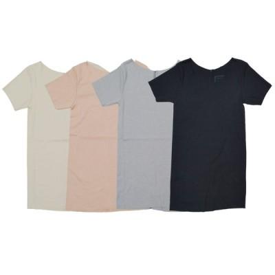 tumugu ツムグ レディース Tシャツ コポリフライス Uネック 半袖カットソー TC17202 無地 半袖インナーTシャツ 日本製