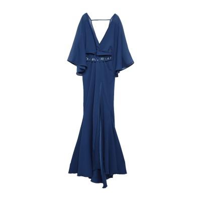 ATELIER LEGORA ロングワンピース&ドレス ブルー 42 レーヨン 45% / ナイロン 30% / ポリエステル 20% / ポリウレ