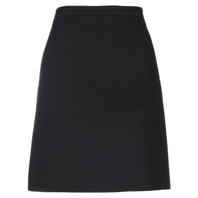 ニール・バレット NEIL BARRETT ひざ丈スカート ブラック 40 レーヨン 97% / ポリウレタン 3% ひざ丈スカート