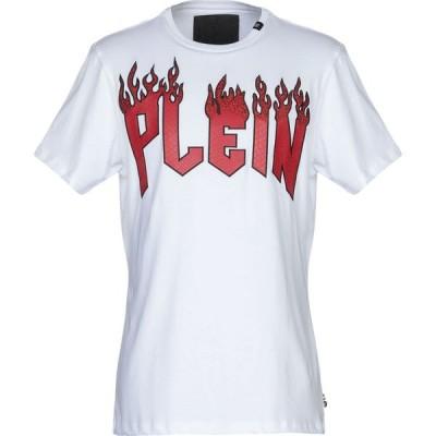 フィリップ プレイン PHILIPP PLEIN メンズ Tシャツ トップス T-Shirt White