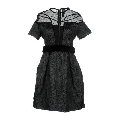 NORA BARTH ミニワンピース&ドレス ブラック 44 ポリエステル 100% ミニワンピース&ドレス