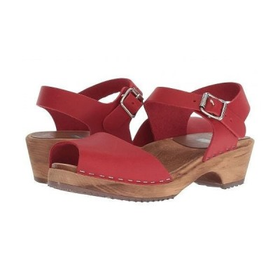MIA エムアイエー レディース 女性用 シューズ 靴 クロッグ ミュール Anja - Red Leather