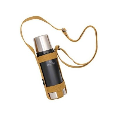 asobito(アソビト) ボトルホルダー Sサイズ 各色 ストラップ式 水筒 スタンレー 収納 長さ調節可能 キャンプ(キャメル Small)
