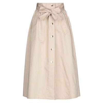 BOUTIQUE MOSCHINO ロングスカート  レディースファッション  ボトムス  スカート  ロング、マキシ丈スカート ベージュ