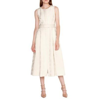 アクリス ワンピース トップス レディース Floral Jacquard Midi Dress Jasmine